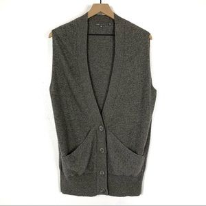 Vince Gray Cashmere Sweater Long Vest Size XS